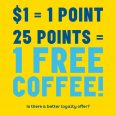 Eat and Drink your way to FREE Coffee!